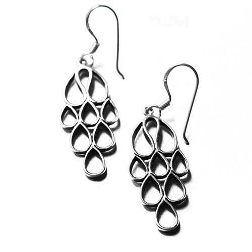 raindrops silver earrings
