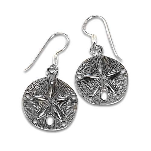 silver starfish silver earrings