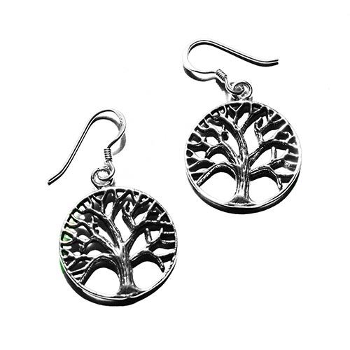 tree of life siver earrings