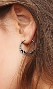bali hoop on girls ear
