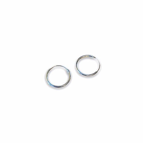 plain sterling silver hoop earring with a 12mm diameter.
