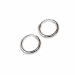 plain silver hoops with 16mm diameter