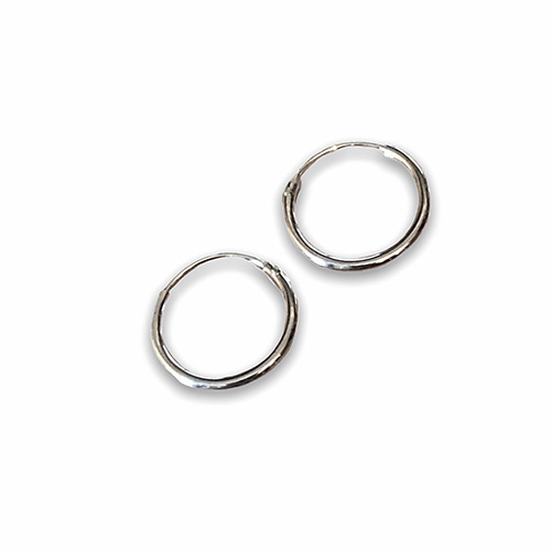 plain sterling silver hoop earring with a 16mm diameter.
