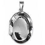 big oval sterling silver locket