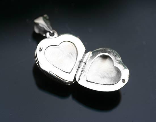 heart shaped double locket