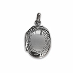 engraved silver locket