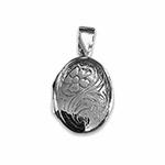 engraved oval locket