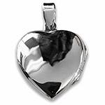 large heart shaped silver locket