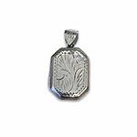 octangular silver locket