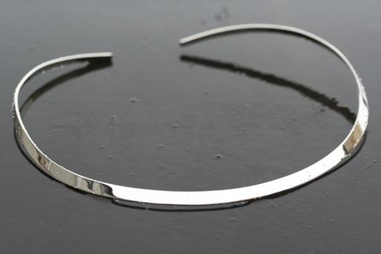 chunky wide silver cuff collar