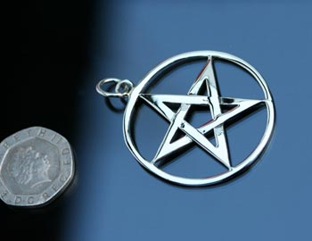 large sized pentagram pendant