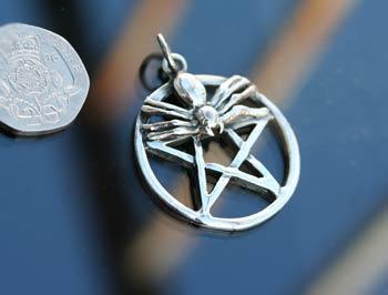 spider pentagram pendant