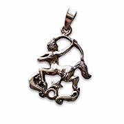sagittarius silver pendant