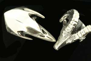 heavyweight silver rings