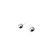 silver stud earrings with 2mm silver ball