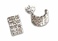 half-creole silver stud earrings