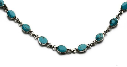 oval sky blue turquoise bracelet
