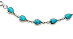 turquoise tear-drop bracelet